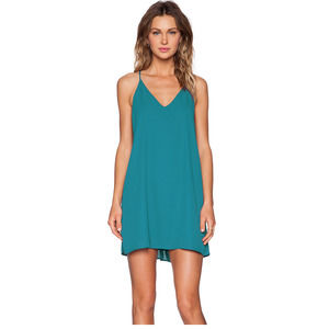 Three Eighty Two Teal Dress - M